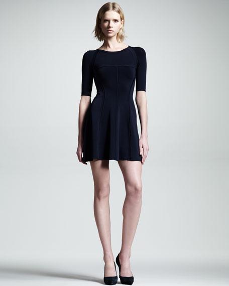 Shelby Seamed Raglan Dress