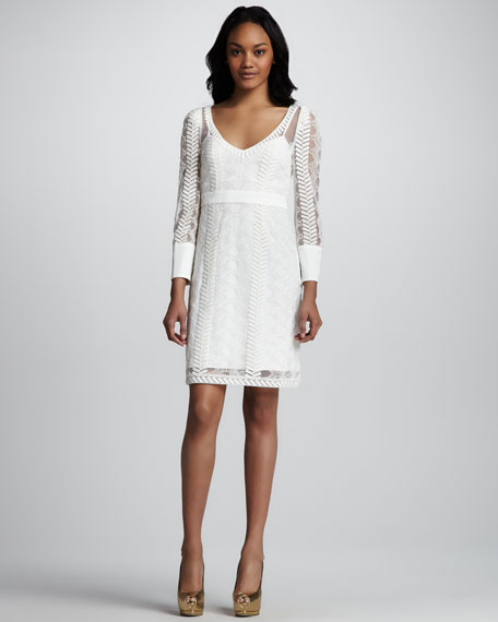 Cord Embroidery Bracelet Sleeve Dress