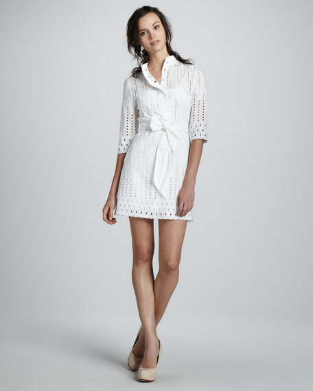 Eyelet Shirtwaist Dress