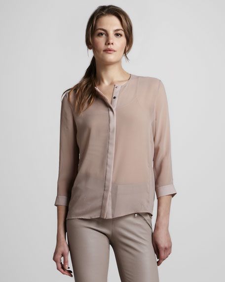 Juliette Sheer Chiffon Blouse
