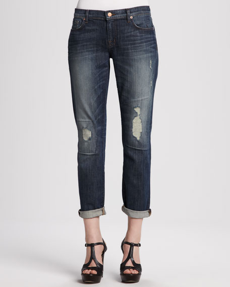 Aidan Bigtime Distressed Cuffed Jeans