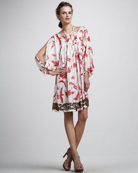 Bird-Print Dress