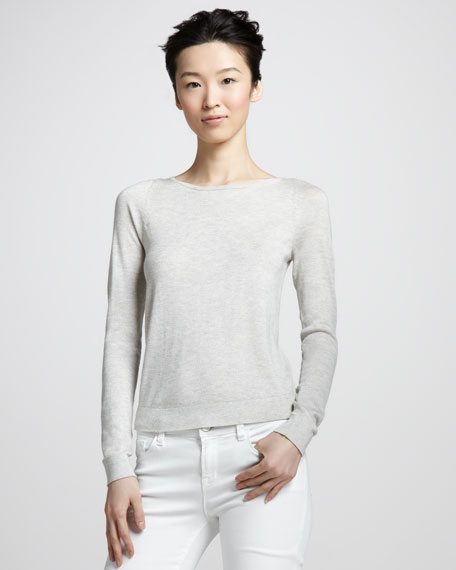 New Noa Zip Sweater, Gray/Pink