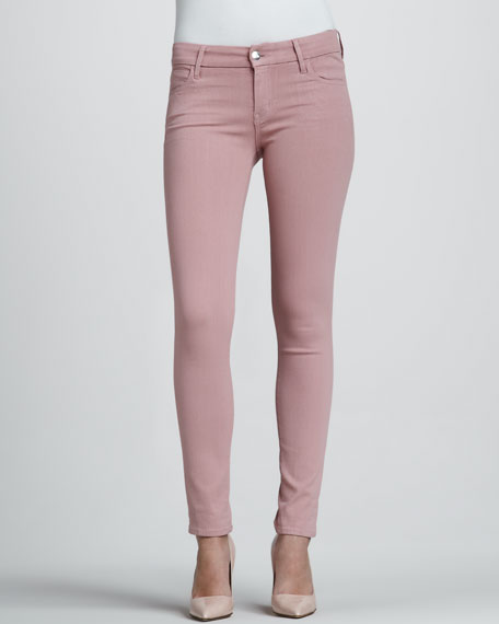 Rose Coated Skinny Jeans