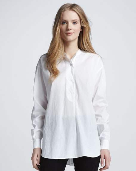 Loose Poplin Blouse