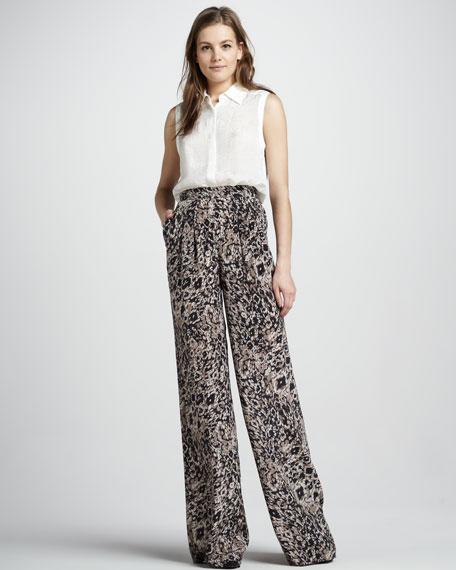 Greta Animal-Print Pants