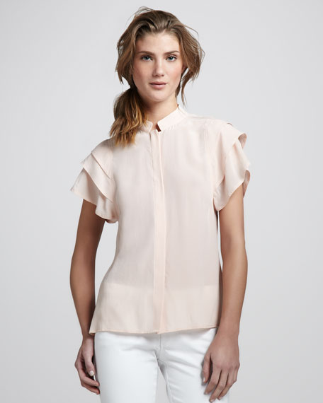 Durham Tiered-Sleeve Blouse