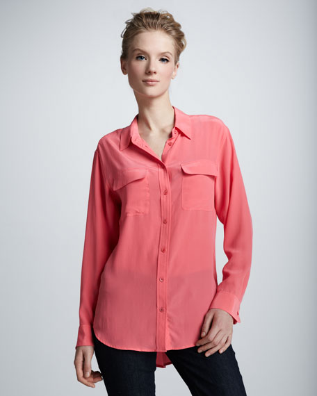 Signature Super Vintage Wash  Blouse, Watermelon