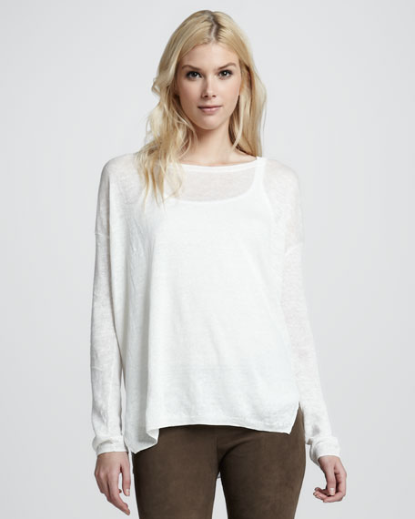 Loose Linen Sweater