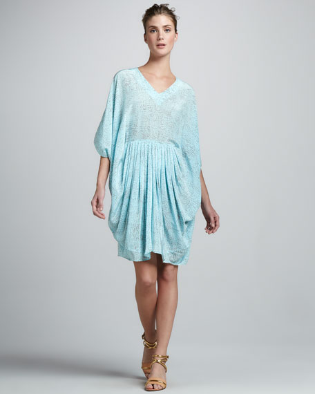 Gilles Pleated Caftan Dress