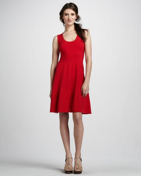 Mixed-Stitch Sleeveless Dress