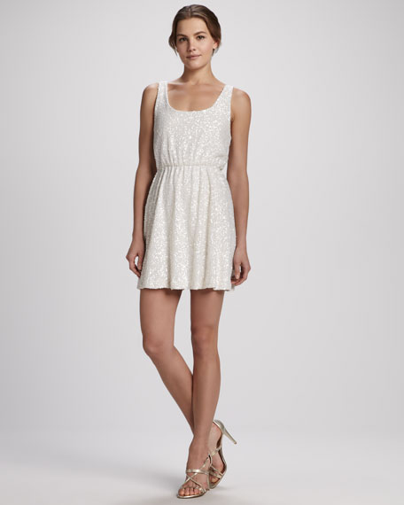 Gabby Blouson Sequin Tank Dress