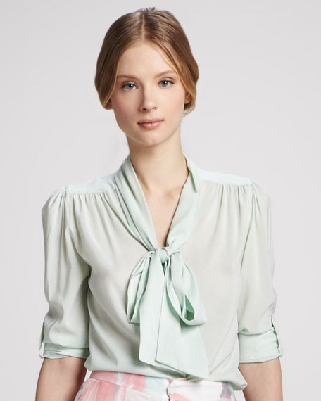 Arie Tied-Collar Blouse