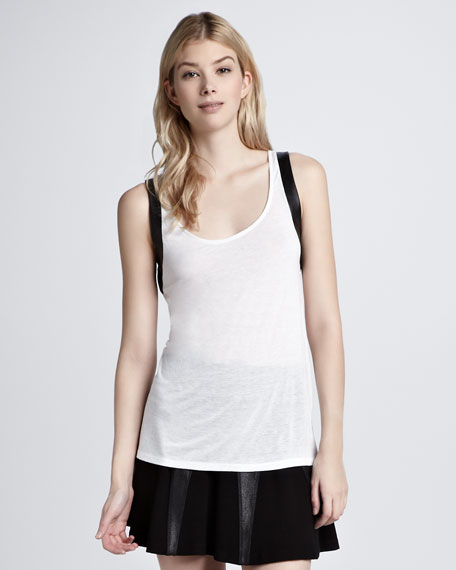 Leather-Trim Tank