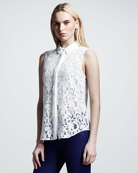 50s Lace Shirt, White