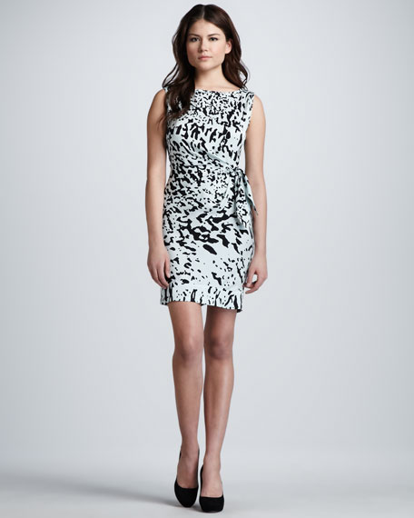 New Della Paint Splash Printed Dress