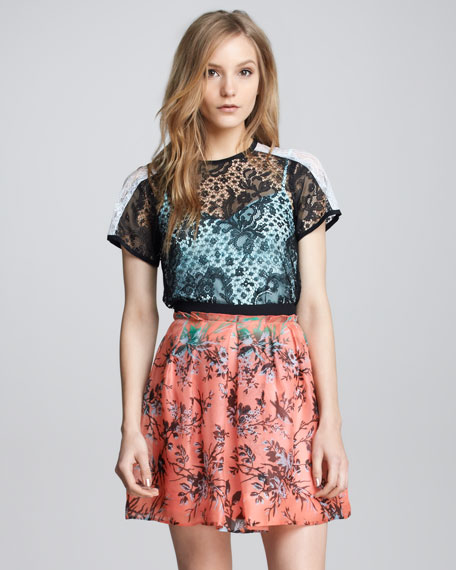 Candy Raver Digital-Print Skirt