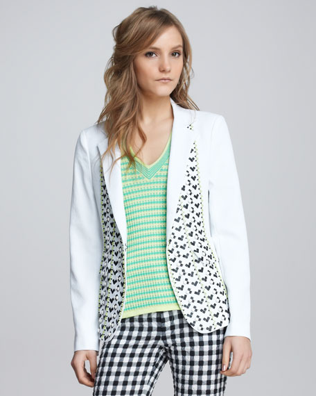 Sweet Connection Embroidered Blazer