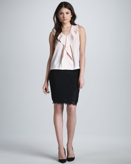 Scotia Lace Pencil Skirt