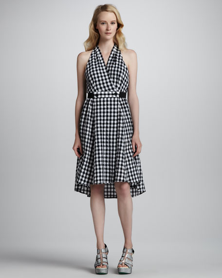 Love Parade Gingham Halter Dress