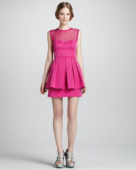 Lightshow Illusion Peplum Dress