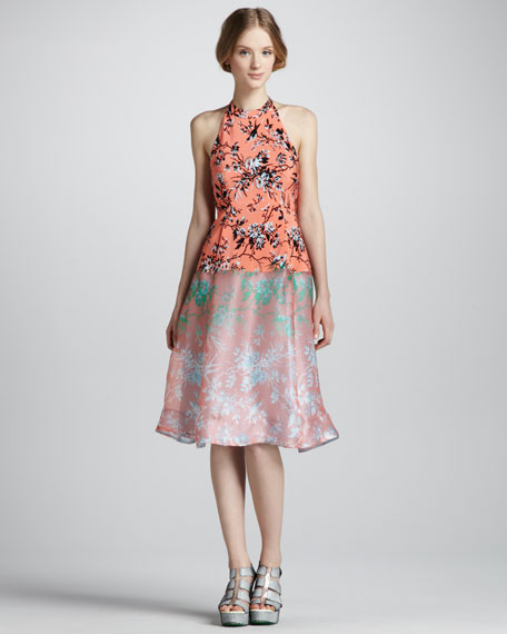 Sound Art Candy Mix-Print Halter Dress