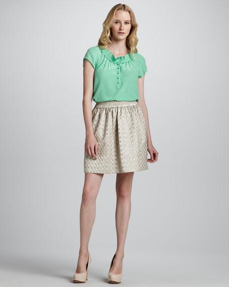 Romy Dot-Jacquard Skirt