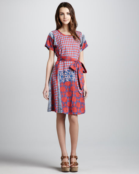 Molly Mix-Print Cotton Dress