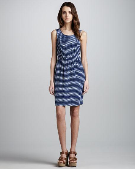 Izzy Printed Silk Dress