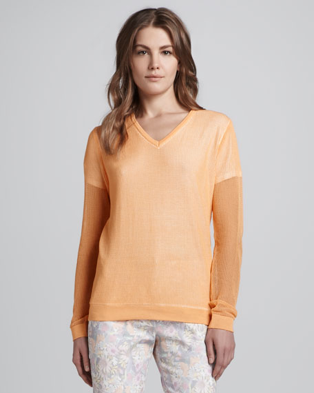 Layer-Illusion V-Neck Sweater