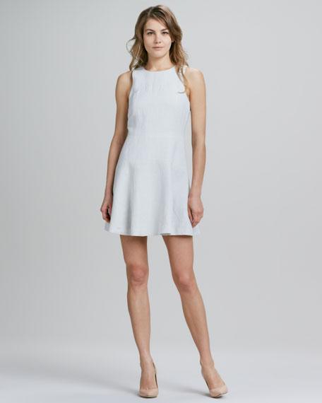 Sleeveless Bias-Cut Linen-Blend Dress