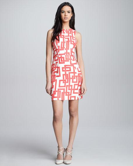 Bri Geometric-Print Dress