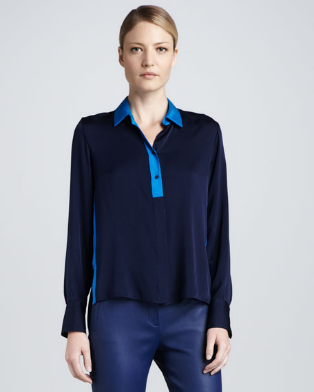 Suzie Two-Tone Blouse