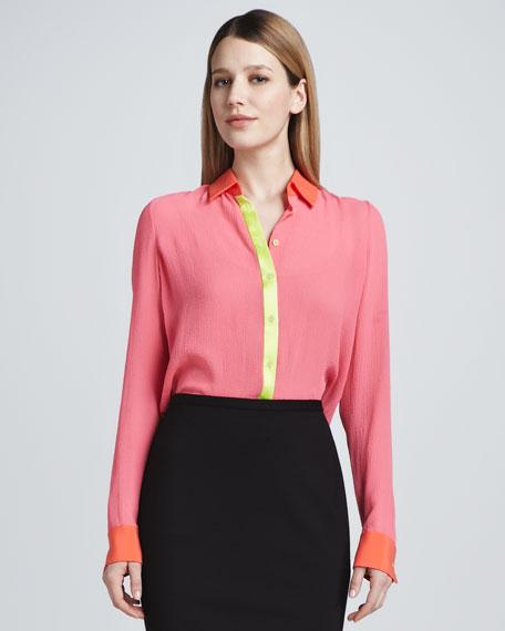 Chelsea Colorblock Silk Blouse