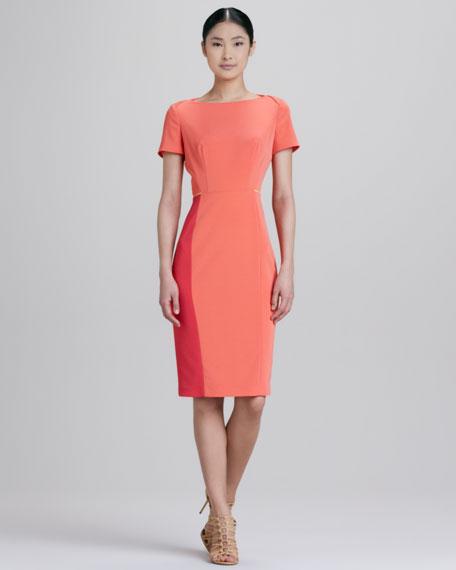 Layla Short-Sleeve Colorblock Dress