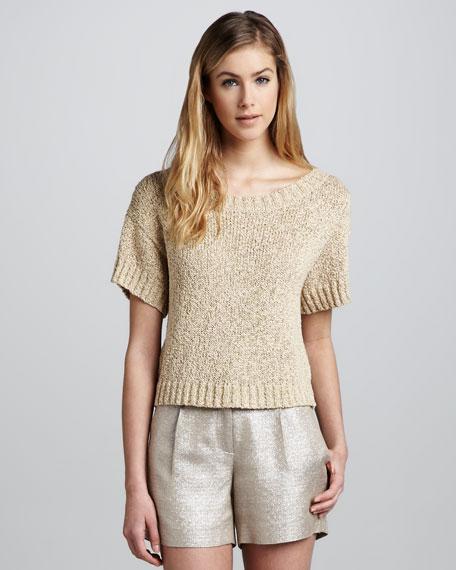 Mackenzie Shimmery Knit Top
