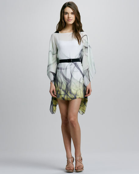Marissa Printed Belted Caftan Dress
