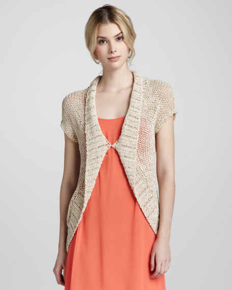 Kinley Open-Stitch Cocoon Sweater