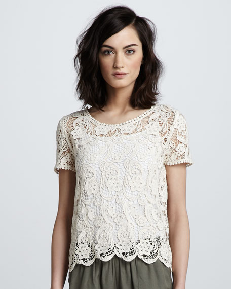 Lace-Crochet Top