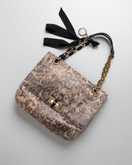 Leopard-Print Happy Shoulder Bag