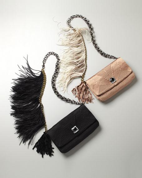 Feathered Ouloulette Shoulder Bag