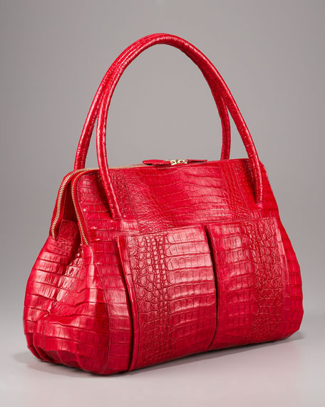 Linda Crocodile Bag, Red
