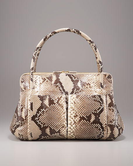 Linda Python Bag, Natural