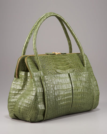 Linda Crocodile Bag, Green