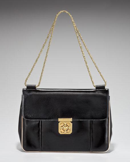 Elise Patent-Leather Shoulder Bag