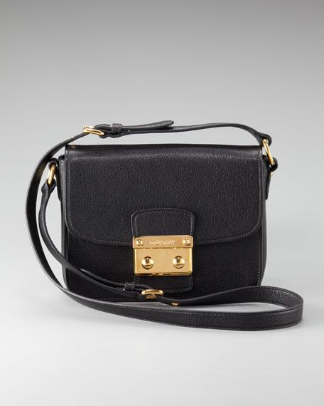Push-Lock Crossbody Bag
