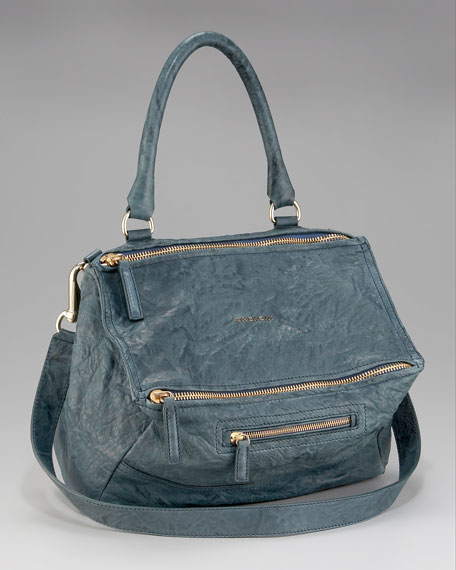 Pandora Medium Shoulder Bag, Peacock Blue