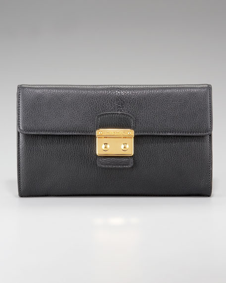 East-West Flap-Top Clutch
