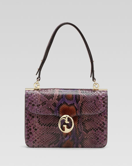 1973 Python Medium Shoulder Flap Bag