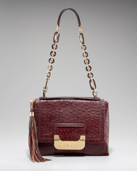 Harper Ostrich Embossed Daybag